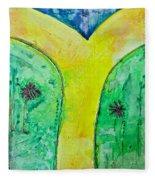 The Journey #56 I'm Walking On Sunshine Fleece Blanket