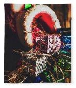 The Joy Of Giving On Christmas Fleece Blanket