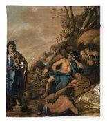 The Judgement Of Midas In The Contest Between Apollo And Pan Fleece Blanket