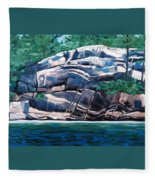 The Jumping Rock - Midday Fleece Blanket