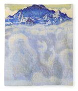 The Jung Frau Above A Sea Of Mist Fleece Blanket