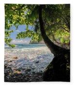 The Jungle At Onomea Bay  Fleece Blanket