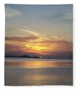 The Junk At Sunset Fleece Blanket