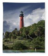 The Jupiter Inlet Lighthouse Fleece Blanket
