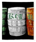 The Keg Room Irish Flag Colors Old English Hunter Green Fleece Blanket