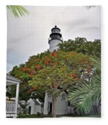 The Key West Lighthouse Fleece Blanket