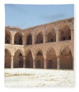 The Khan, Also Known As A Caravanserai, In Akko, Israel Fleece Blanket