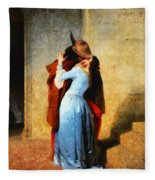 The Kiss Of Hayez Revisited Fleece Blanket