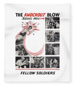 The Knockout Blow Starts Here Fleece Blanket