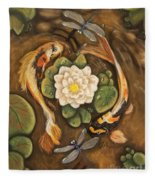 The Koi Fleece Blanket