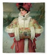 The Lady Of The Snows Fleece Blanket