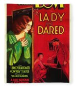 The Lady Who Dared 1931 Fleece Blanket