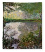 The Lake At Montgeron Fleece Blanket