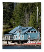 The Lake House - Digital Oil Fleece Blanket