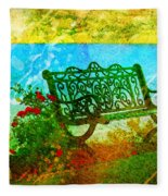 The Lakeview Bench Fleece Blanket