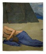The Lamentation Of Orpheus Fleece Blanket