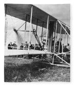 The Langley Airplane Fleece Blanket