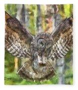 The Largest Owl Fleece Blanket