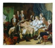 The Last Hours Of Mozart 1756-91 Henry Nelson Oneil Fleece Blanket