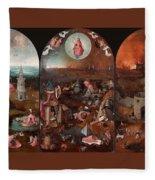 The Last Judgement Hieronymus Bosch Fleece Blanket