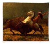 The Last Of The Buffalo Fleece Blanket
