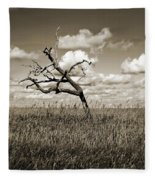 The Last One Standing - Sepia Fleece Blanket