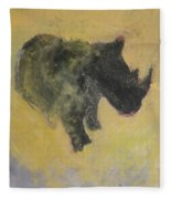 The Last Rhino Fleece Blanket