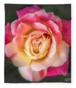 The Last Rose Of Summer, Painting Fleece Blanket