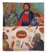 The Last Supper Fragment 1311 Fleece Blanket