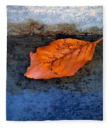 The Leaf On The Stairs Fleece Blanket