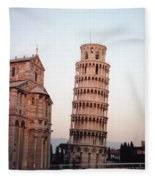 The Leaning Tower Of Pisa Fleece Blanket