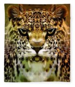 The Leopard Of The Temple  Fleece Blanket