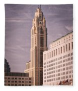 The Leveque Tower Of Columbus Ohio Fleece Blanket