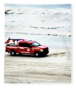 The Lifeguard Truck Fleece Blanket