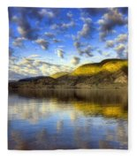 The Light At Skaha Lake Fleece Blanket