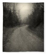 The Light At The End Of The Road Fleece Blanket