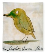 The Light Green Bird Fleece Blanket