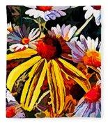 The Light Within The Flowers Fleece Blanket