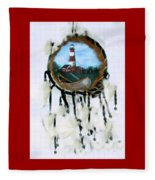 The Assateague Lighthouse Fleece Blanket