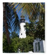 The Lighthouse In Key West II Fleece Blanket