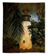 The Lighthouse In Key West Fleece Blanket