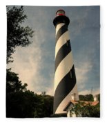 The Lighthouse In St.augustin Fl Fleece Blanket