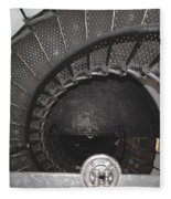 The Lighthouse Stairs Fleece Blanket