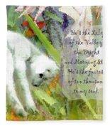 The Lily Of The Valley - Lyrics Fleece Blanket