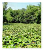 The Lily Pond #1 Fleece Blanket