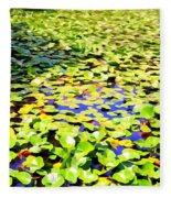 The Lily Pond #2 Fleece Blanket