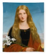 The Lily. Portrait Of Miss Bury Fleece Blanket