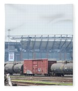 The Linc From The Other Side Of The Tracks Fleece Blanket