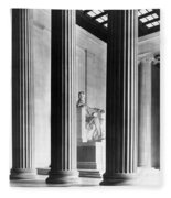 The Lincoln Memorial Fleece Blanket