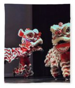 The Lion Dance Camarillo Kung Fu Club Fleece Blanket